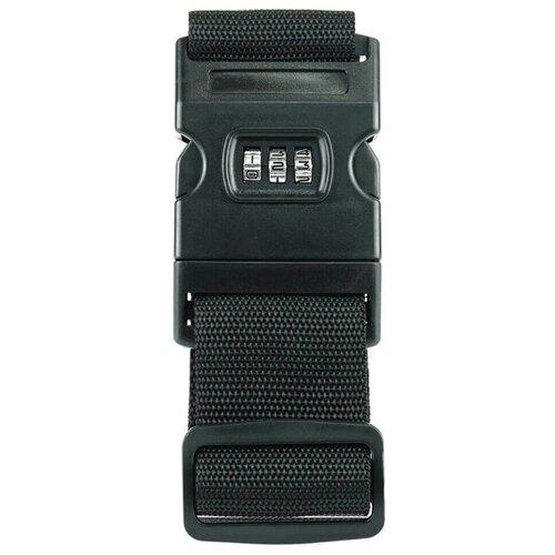 Ремень для багажа verona Orion, черный набор для путешествий многофункциональный дорожный адаптер ремень для багажа уп 1 40наб