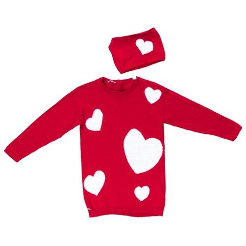 Платье Sarabanda размер 110, красный платье oodji ultra цвет красный белый 14001071 13 46148 4512s размер xs 42 170