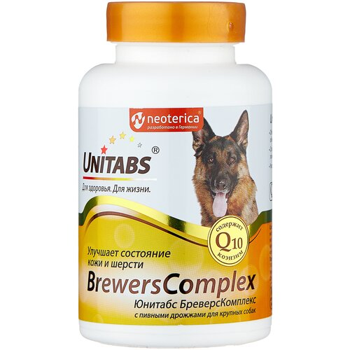 Добавка в корм Unitabs BrewersComplex с пивными дрожжами для крупных собак 100 таб.