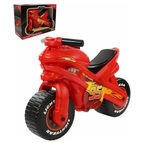 Каталка-толокар Полесье Тачки 70548 красный/черный полесье набор игрушек для песочницы полесье disney pixar тачки 18 5 предметов