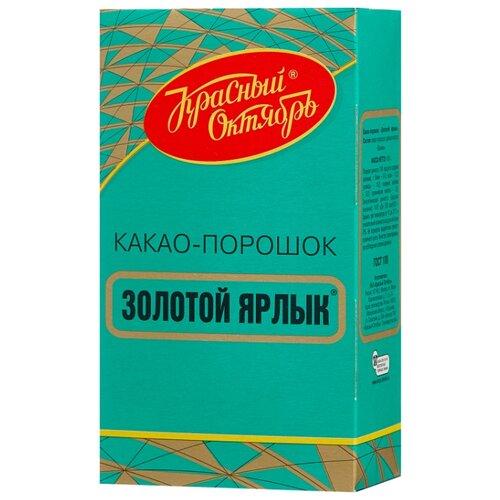 Красный Октябрь Золотой Ярлык Какао-порошок для варки без сахара, 100 г