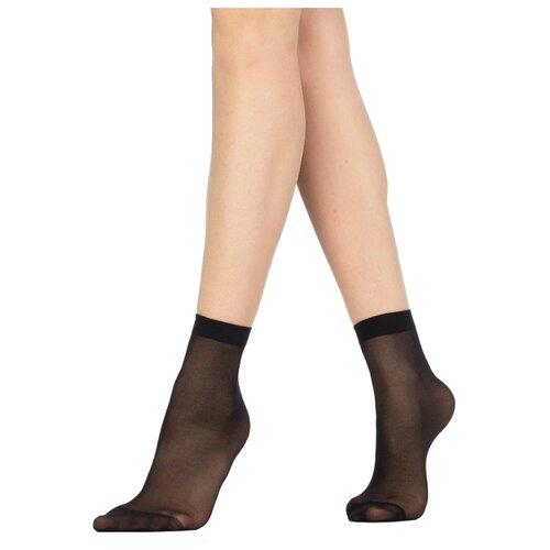 Капроновые носки Golden Lady Mio 20 Den, 2 пары, размер 0 (one size), nero
