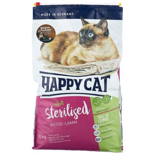 Корм для стерилизованных кошек Happy Cat Supreme с ягненком 10 кг