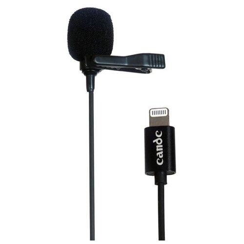 Петличный двойной микрофон Candc DC-C10 (для записи звука, стримов и трансляций), черный