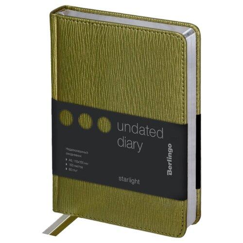 Купить Ежедневник Berlingo Starlight недатированный, искусственная кожа, А6, 160 листов, салатовый, Ежедневники, записные книжки