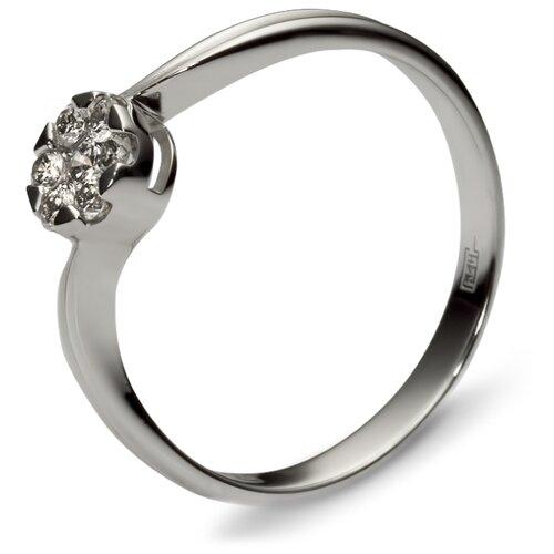 Фото - Эстет Кольцо с 7 бриллиантами из белого золота 01К626318, размер 18 yvel кольцо с 7 бриллиантами из белого золота 2061000231632 размер 18