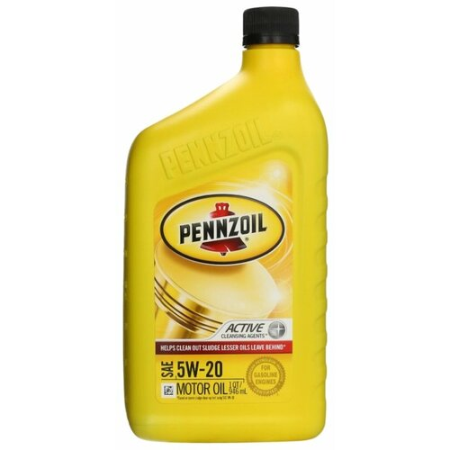 Фото - Моторное масло Pennzoil SAE 5W-20 0.946 л моторное масло pennzoil gold synthetic blend sae 5w 30 0 946 л