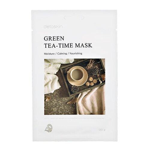 Фото - Detoskin GREEN TEA-TIME MASK Тканевая маска с экстрактом зеленого чая тканевая маска для лица с экстрактом зеленого чая green tea essence mask 21г