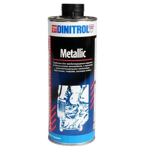 Антикор DINITROL Metallic 1 л баллончик коричневый