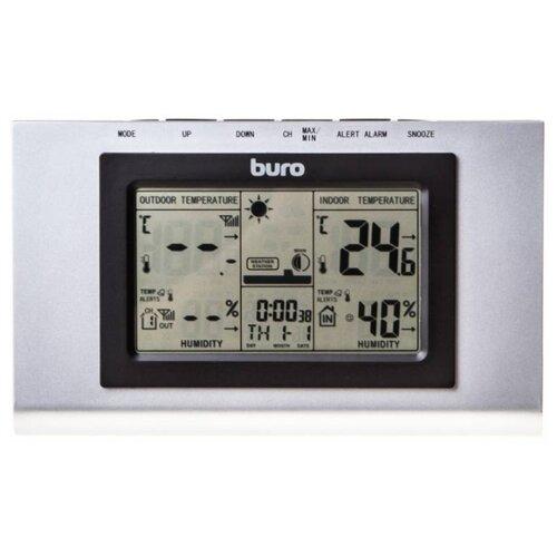 Метеостанция Buro H127G серебристый / черный
