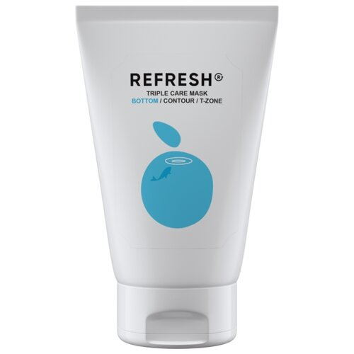 Фото - REFRESH Голубая маска для нижней зоны лица Triple Care Mask Bottom, 50 мл refresh маска для максимального объема волос long