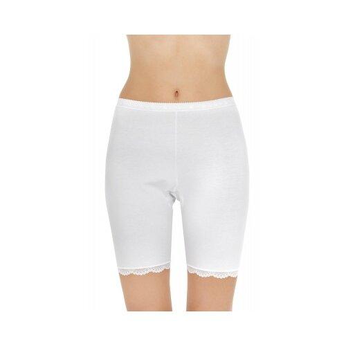 Pompea Трусы панталоны с высокой талией Ingrosso P1/28 с кружевной каймой, размер ХXL (6), белый