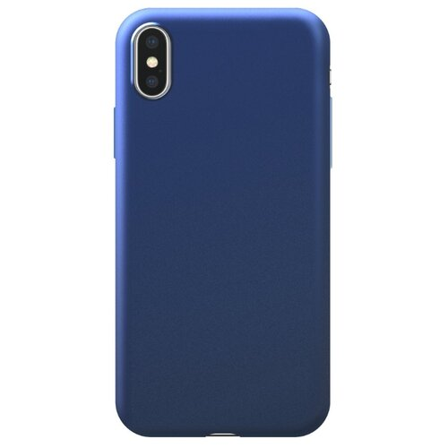 Чехол-накладка Deppa Silk Case для Apple iPhone Xs Max синий металлик чехол накладка deppa gel plus case матовый для apple iphone x xs розовое золото