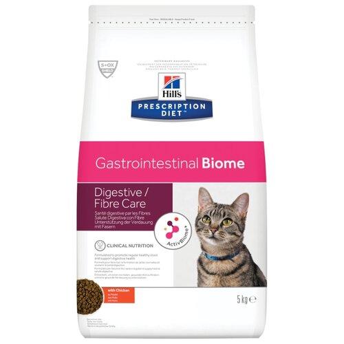 Корм для кошек Hill's Prescription Diet Gastrointestinal Biome Digestive/Fiber Care при проблемах с ЖКТ, с курицей 5 кг