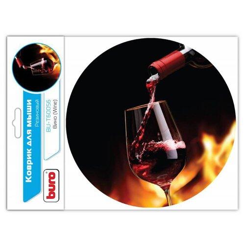 Коврик Buro BU-T60056 (350572) рисунок/вино