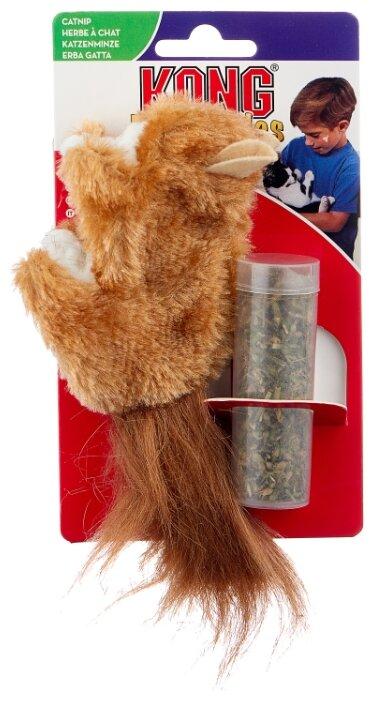 Игрушка для кошек KONG Белка с тубом кошачьей мяты (NQ4)