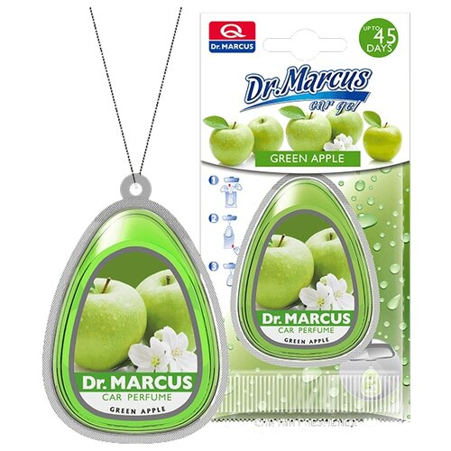 цена на Dr. Marcus Ароматизатор для автомобиля Car Gel Green Apple 10 мл