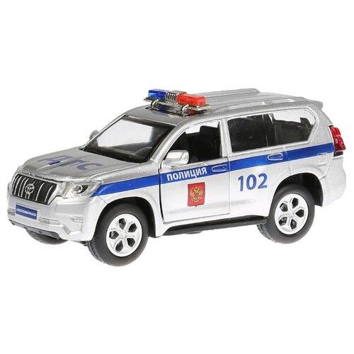 Внедорожник ТЕХНОПАРК Toyota Prado полиция (PRADO-P-SL) 12 см серебристый технопарк машинка технопарк металлическая toyota prado полиция