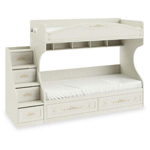 Двухъярусная кровать детская ТриЯ Лючия СМ-235.11.01, размер (ДхШ): 252.6х83.9 см, спальное место (ДхШ): 200х80 см, каркас: МДФ, цвет: Штрихлак