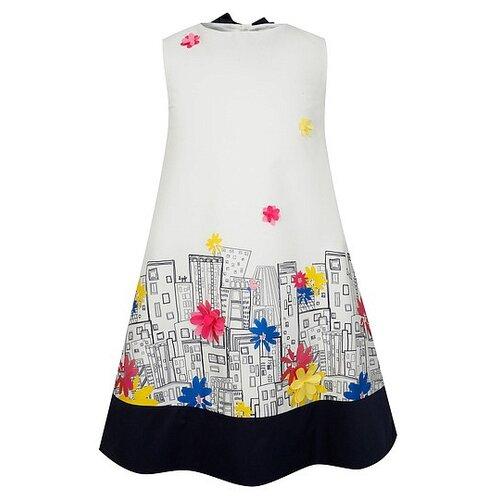 Платье Il Gufo размер 92, белый/синий
