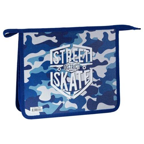 Купить ArtSpace Папка для тетрадей Street А5, 2 отделения, на молнии, пластик/картон синий, Файлы и папки