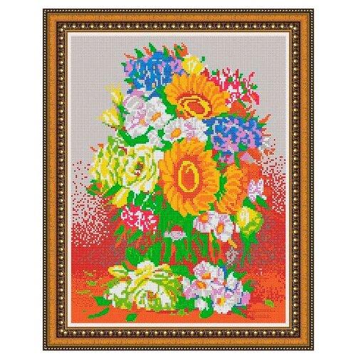 Светлица Набор для вышивания бисером Садовые цветы 38 х 30 см, бисер Чехия (331П)