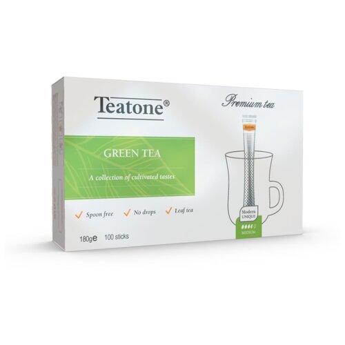 Чай зеленый Teatone в стиках, 100 шт. earl grey чёрный чай с ароматом бергамота teatone в стиках для разовой заварки 100шт 1 8г