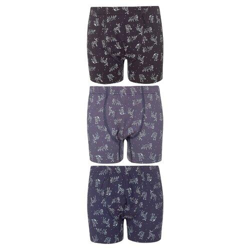 Купить Трусы BAYKAR 3 шт., размер 170/176, серый/синий/черный, Белье и пляжная мода
