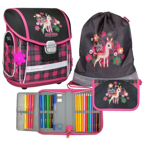 Mag Taller Ранец Evo Fawn с наполнением, черный/розовый mag taller рюкзак zoom flowers разноцветный