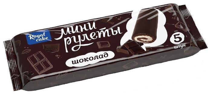 Мини-рулет Royal Cake глазированный со вкусом шоколада (5 шт.)