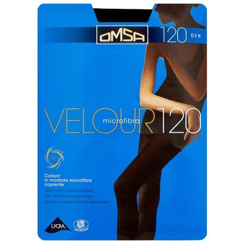 Колготки Omsa Velour 120 den, размер 2-S, nero (черный) колготки glamour velour 3 120 den черный