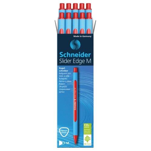 Купить Schneider Набор шариковых ручек Slider Edge M, 1.0 мм, 10 шт, красный цвет чернил, Ручки