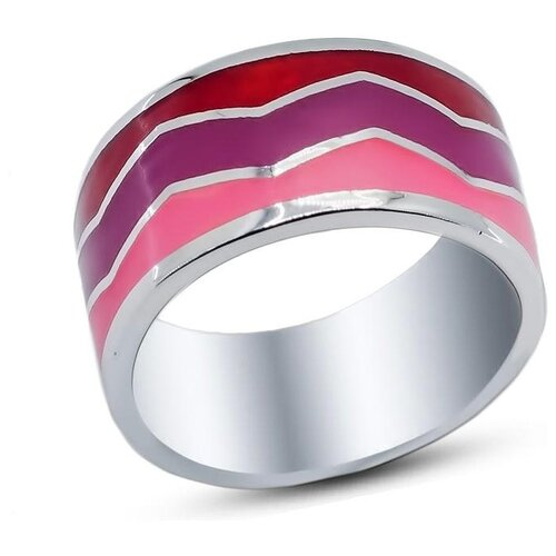 Silver WINGS Кольцо с эмалью из серебра 21set10183mix2-113, размер 17 silver wings кольцо с бирюзой из серебра 21set10724 113 размер 17