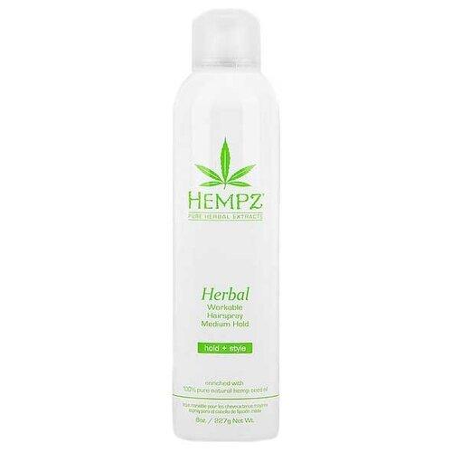 Hempz Лак для волос средней фиксации Здоровые волосы, средняя фиксация, 227 мл