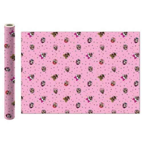 Бумага упаковочная ND Play L.O.L. 100х70 см, 2 шт розовая