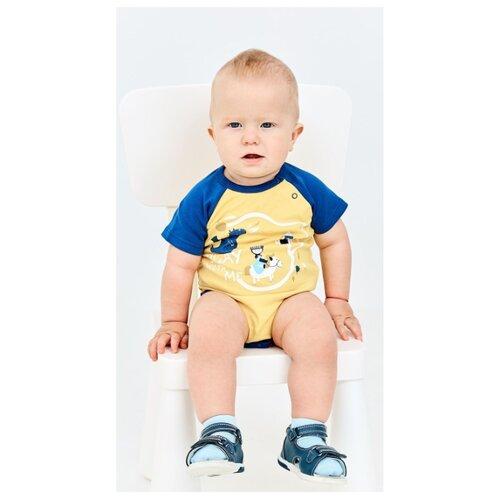 Боди Umka размер 74, желтый/синий платье umka az 841 im