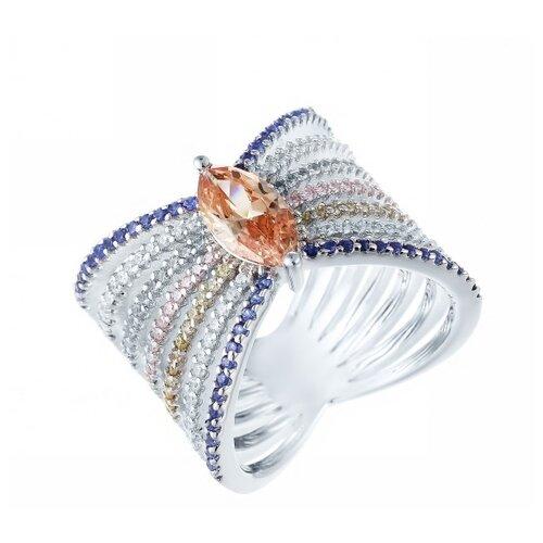 Фото - JV Серебряное кольцо с кубическим цирконием DM2180-TTR-KO-001-WG, размер 18 jv серебряное кольцо с кубическим цирконием dm0026r ko 001 wg размер 18