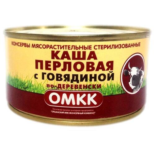 ОМКК Каша перловая с говядиной по-деревенски 325 г
