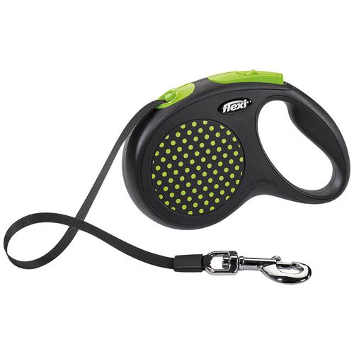 Фото - Поводок-рулетка для собак Flexi Design M ленточный зеленый 5 м поводок рулетка для собак flexi black design m ленточный зеленый 5 м