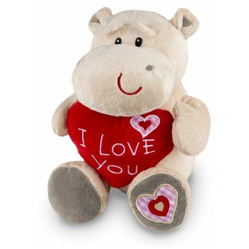 Мягкая игрушка Maxitoys Бегемот Боня с сердцем 30 см игрушка мягкая maxitoys калифорнийский кролик 30 см
