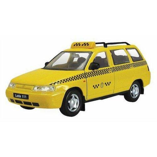 Легковой автомобиль Autogrand Lada 111 такси (2703) 11.5 см желтый/черный