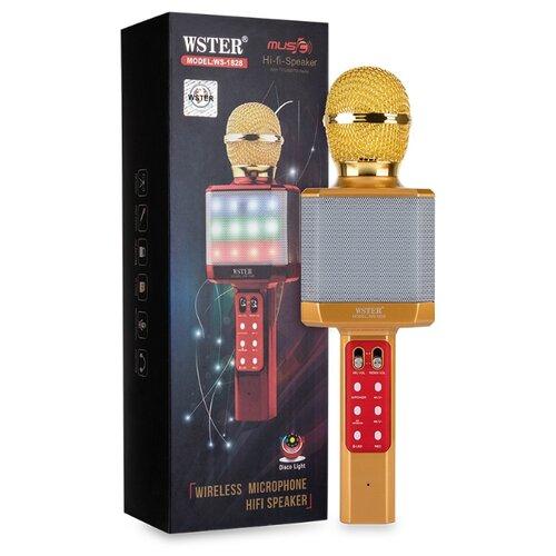 Караоке микрофон WSTER WS-1828 золотой