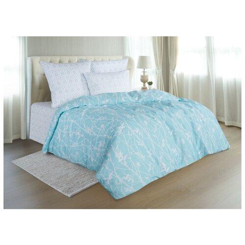 Постельное белье 1.5-спальное Guten Morgen 906 70х70 см, поплин серый/голубой одеяло guten morgen поплин 140х205 см