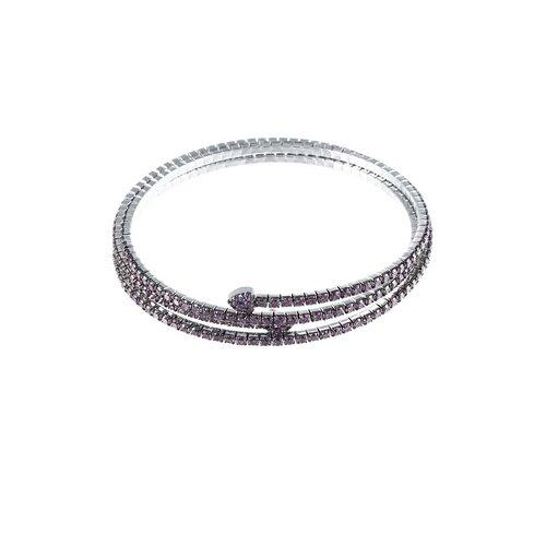 ELEMENT47 Браслет из серебра 925 пробы с фианитами MSB-030_BT_001_WG, 18 см