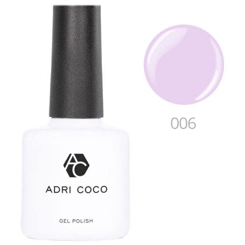 Гель-лак для ногтей ADRICOCO Gel Polish, 8 мл, оттенок 006 нежно-лиловый