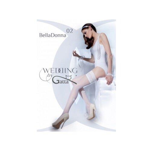 Чулки Gatta Belladonna 02, размер 1-2/XS-S, off white (белый) платье oodji ultra цвет красный белый 14001071 13 46148 4512s размер xs 42 170