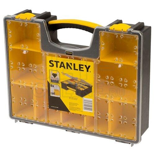 Органайзер STANLEY 1-92-749 42.2x33.5x10.6 см желтый/черный органайзер stanley 1 92 749 профессиональный 8 отделений пластмассовый