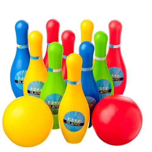 Купить Набор для игры в боулинг SILAPRO 12 предметов (кегли 16, 5см, шар d9см), пластик, Спортивные игры и игрушки