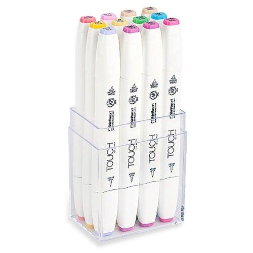 Купить Touch Twin Набор маркеров Brush пастельные тона (1211216), 12 шт., Фломастеры и маркеры