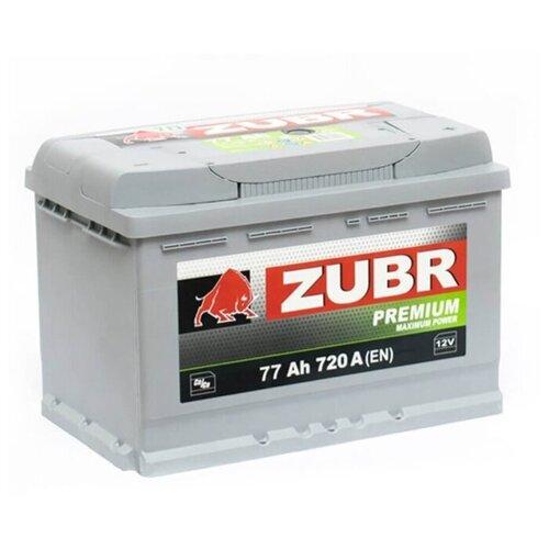 ZUBR Аккумуляторная батарея автомобильная Premium 77 A/h обратная полярность
